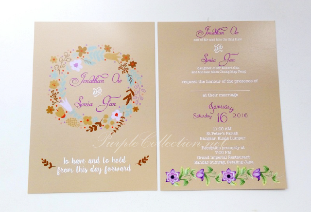 rustic themed wedding flat cards printing malaysia, vintage, floral, brown, kraft, autumn colours, mid valley megamall, cetak, order, online, express, urgent, affordable, Singapore, Johor bahru, kuala lumpur, selangor, bespoke, custom made, design, watercolour flowers, kad kahwin, lawa, murah, cepat, setapak, penang, ipoh, perak, taiping, sabah, sarawak, brunei, usa, australia, melbourne, sydney, call to order, personalised, personalized, digital, free envelopes, plain, map printing, overnight, elegant, simple, unique, special, one of its kind, nsw, adelaide, cairns, new zealand