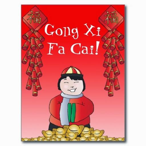 Gambar ucapan selamat tahun baru imlek gong xi fa chai decoration