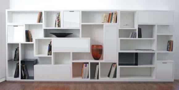 La scarpiera nella libreria arredamento facile for Scarpiera bassa