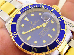 ROLEX SUBMARINER DATE SUNBURST BLUE DIAL TWO TONE - ROLEX 16613 - SERIE A YEAR 1999 - FULLSET