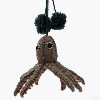 Furbish Studio felted octopus ornament