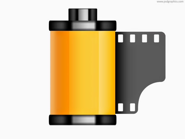 Old Film Roll Icon PSD