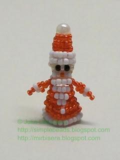 Дед Мороз из бисера