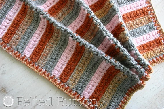 Arlington Blanket Crochet Pattern by Susan Carlson of Felted Button
