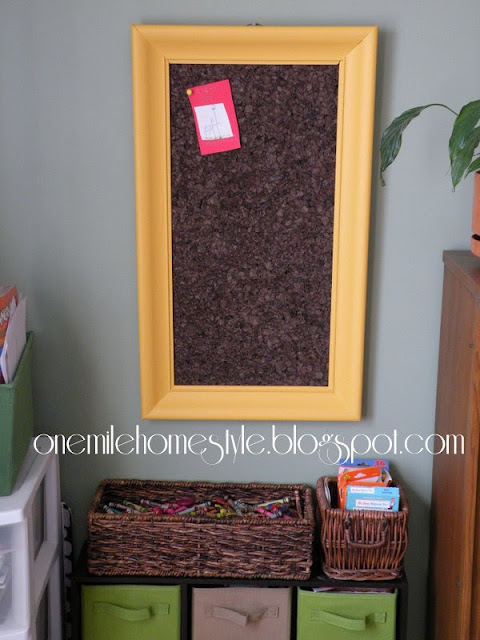 Yellow DIY Picture Frame Corkboard