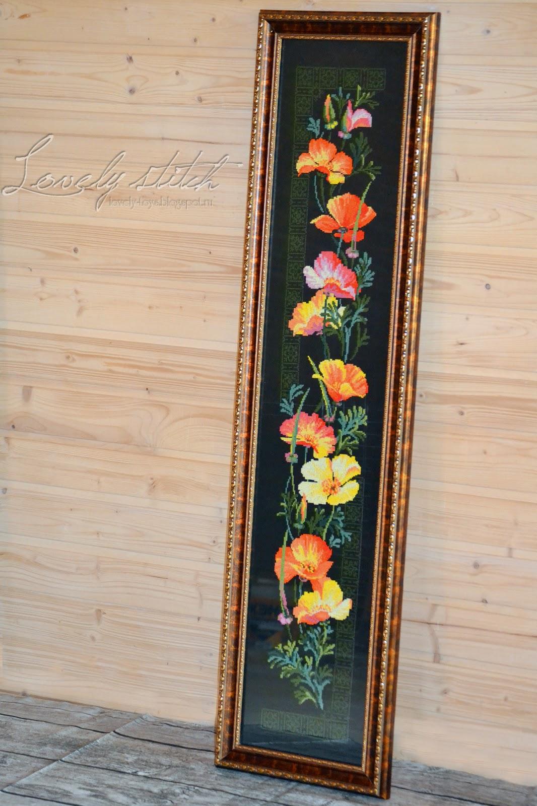 Схема вышивки калифорнийский мак риолис 78