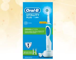 Zestaw szczoteczka elektryczna OralB Vitality Plus z Biedronki
