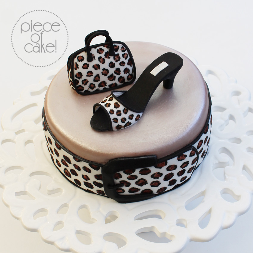 Leopard Print Cake Inside And Out