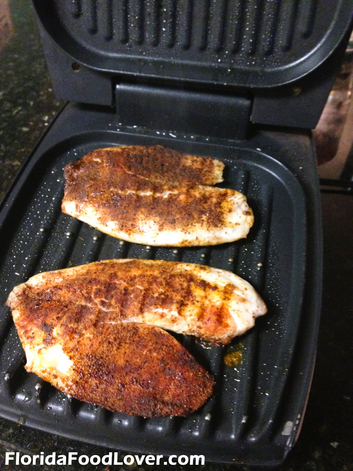 Florida food lover grilled tilapia bowls with spicy for George foreman grill fish
