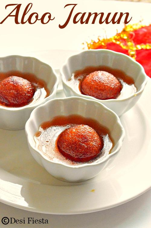 Potato Gulab Jamun
