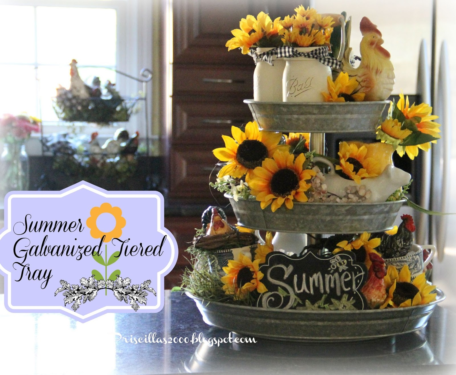 How to Decorate a Tiered Tray picture