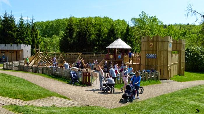Squires Courtyard, playground, Leeds Castle