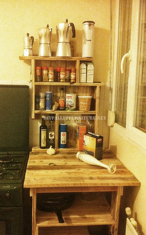Mueblesdepalets.net: Mueble auxiliar para la cocina de palets