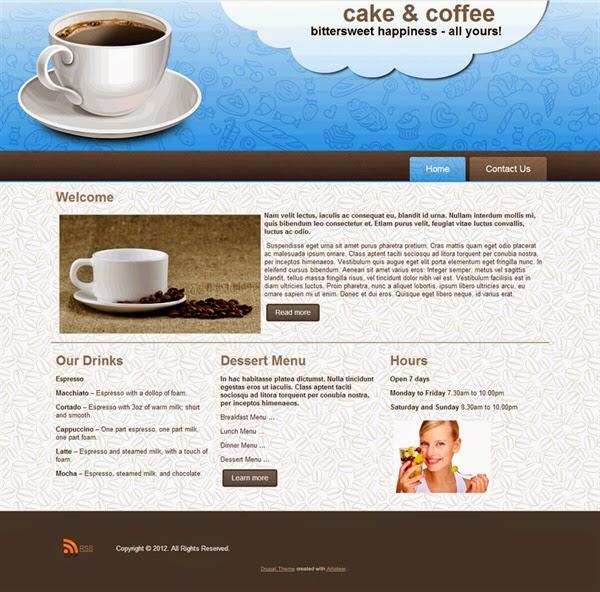 Cake&Coffee - Free Drupal Theme