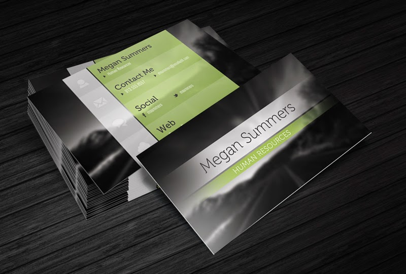 Free Simple Scene Business Card PSD Template