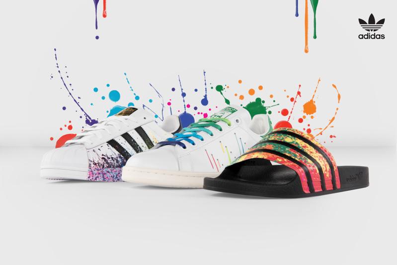 adidas superstar macchiate di colore