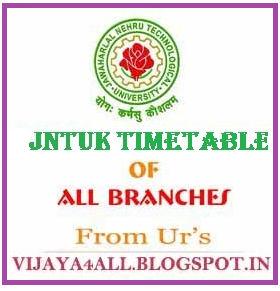 JNTU-KAKINADA : B.Tech / B.Pharmacy 1-1,1-2 (R10) Regular/Supplementary Examination Time Tables (July/August 2013)