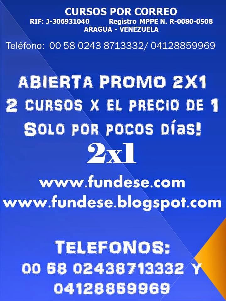 PROMO 2X1 ''2 CURSOS X EL PRECIO DE 1''