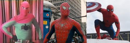Evolução do uniforme do Homem Aranha nos filmes