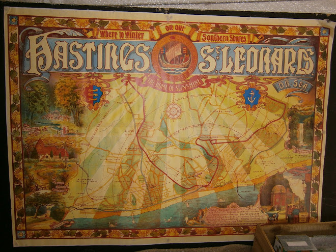 Hastings Tramway poster from the 20s, beautiful illustration