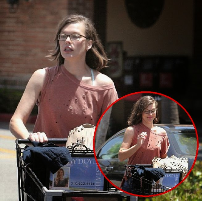 Forget about longing around on the beach and the actress shows she loves to get active on grocery. And Milla Jovovich certainly reaps the benefits of her non-stop lifestyle as she looks like any other girl hanging out domestic chores in Los Angeles, California, USA on Sunday, July 13, 2014.