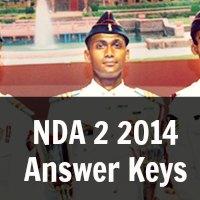 NDA 2 2014 Answer Keys