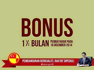Thumbnail image for Bonus Sebulan Setengah Gaji 2014 Untuk Penjawat Awam Di Selangor