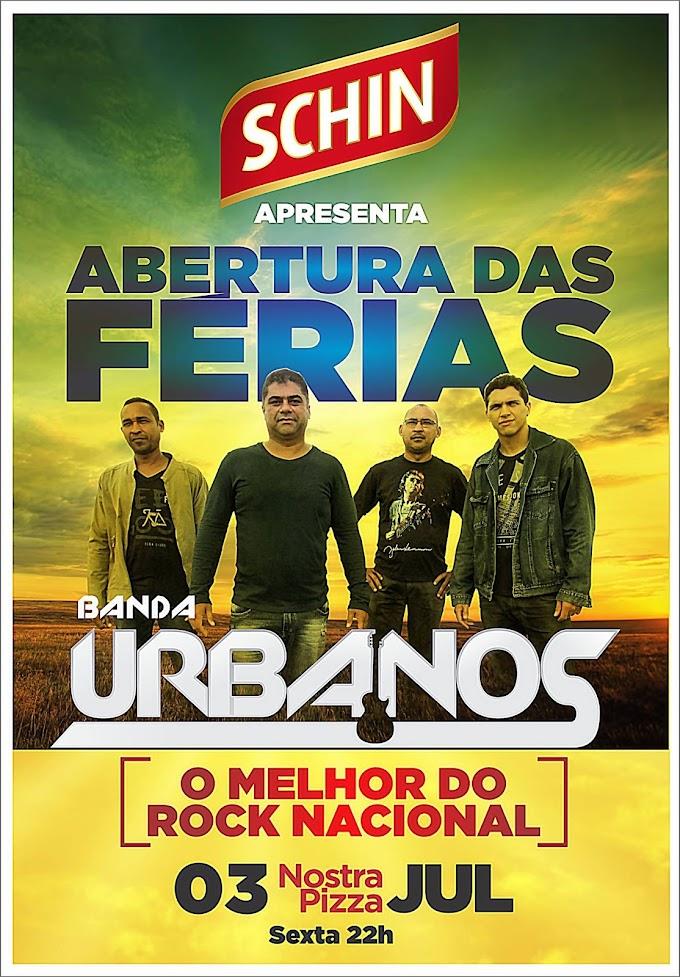 """""""É HOJE"""" Sexta-feira(03), muito Rock Nacional na NOSTRA PIZZA com a Banda Urbanos!"""