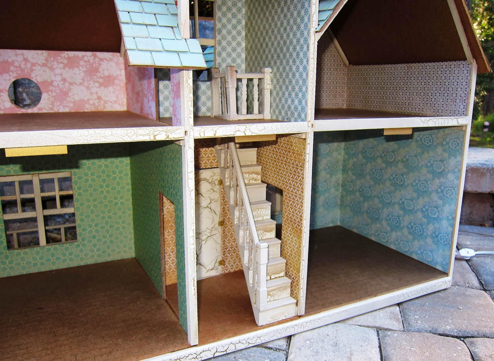 The Stairway Was Not Included In The Kit. I Purchased This One From Hobby  Lobby And Worked It Into The Design Of The House.