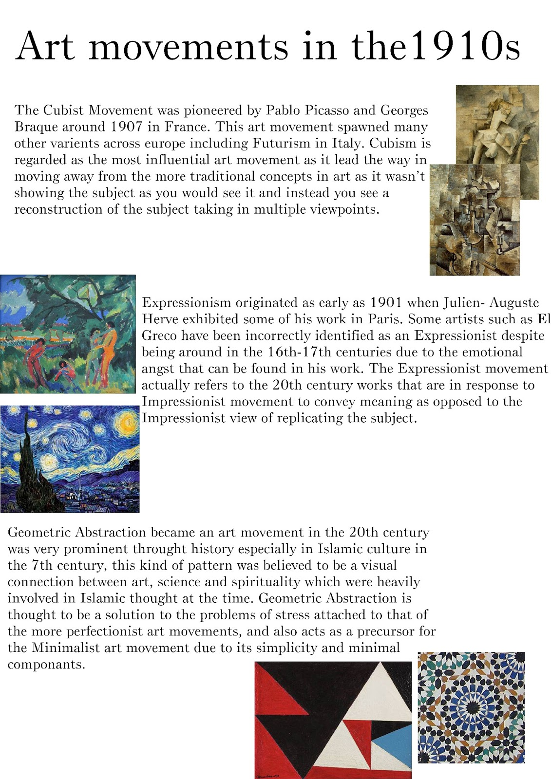 an introduction to the history of art movement cubism in the 20th century Symbolist experimentation is the foundation of many 20th-century an introduction to nineteenth century art using the tools of the 'new' art history.