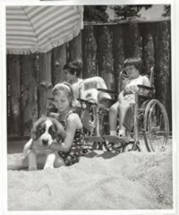 Children with disabilities at camp