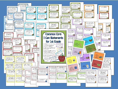 gwhizteacher, common core I can statments for first grade
