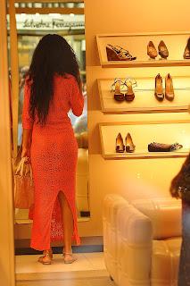 Rihanna looking at the mirror