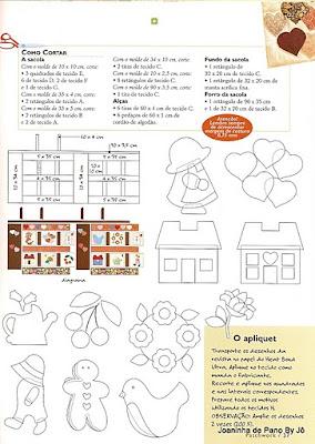 Moldes de ecobag de tecido - patchwork