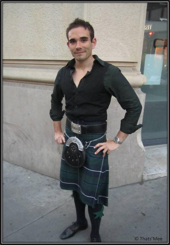 Style de la semaine Ecossais Kilt tartan Aberdeen