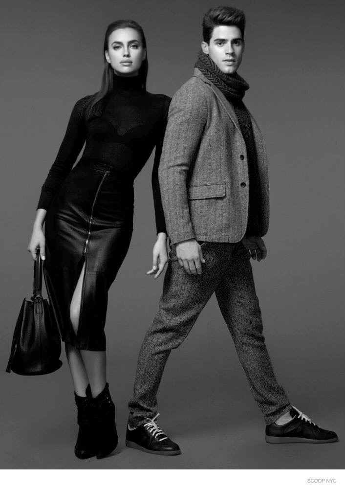 Scoop NYC Fall//Winter 2014 Lookbook featuring Irina Shayk and Chad White