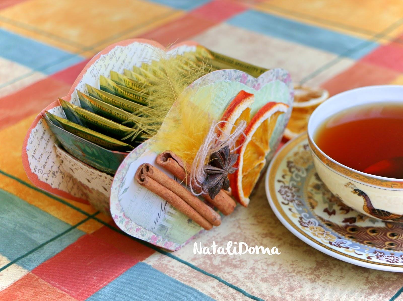 Natali Doma: Коробочка для хранения чайных пакетиков. Мастер-класс.