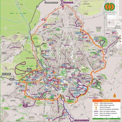 Disfruta madrid carril bici silvia quir s - Anillo verde ciclista madrid mapa ...