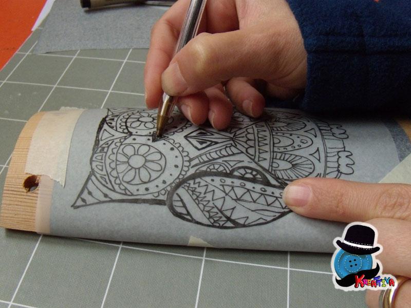 Bien-aimé Gufo pirografato su tegola in legno - Kreattivablog GX34