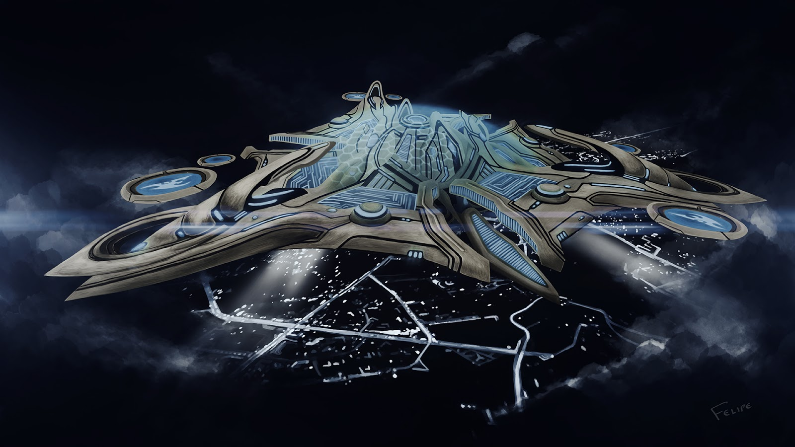 Starcraft Protoss Mothership