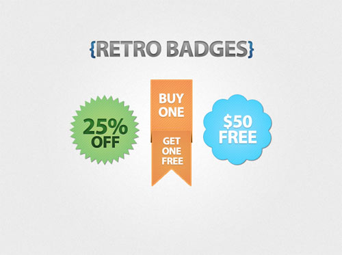 Free PSD Badges Files for Designers