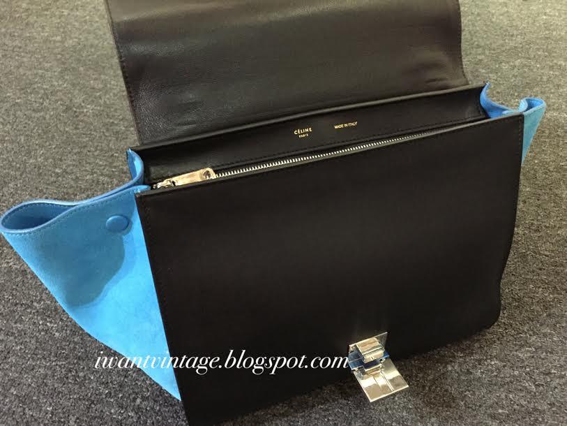 celine designer bag 35xc  I Want Vintage  Vintage Designer Handbags: Celine Medium Trapeze