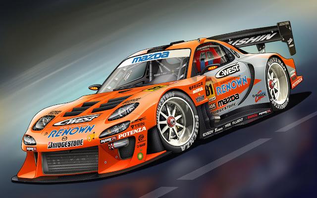 Sports cars Mazda RX 7