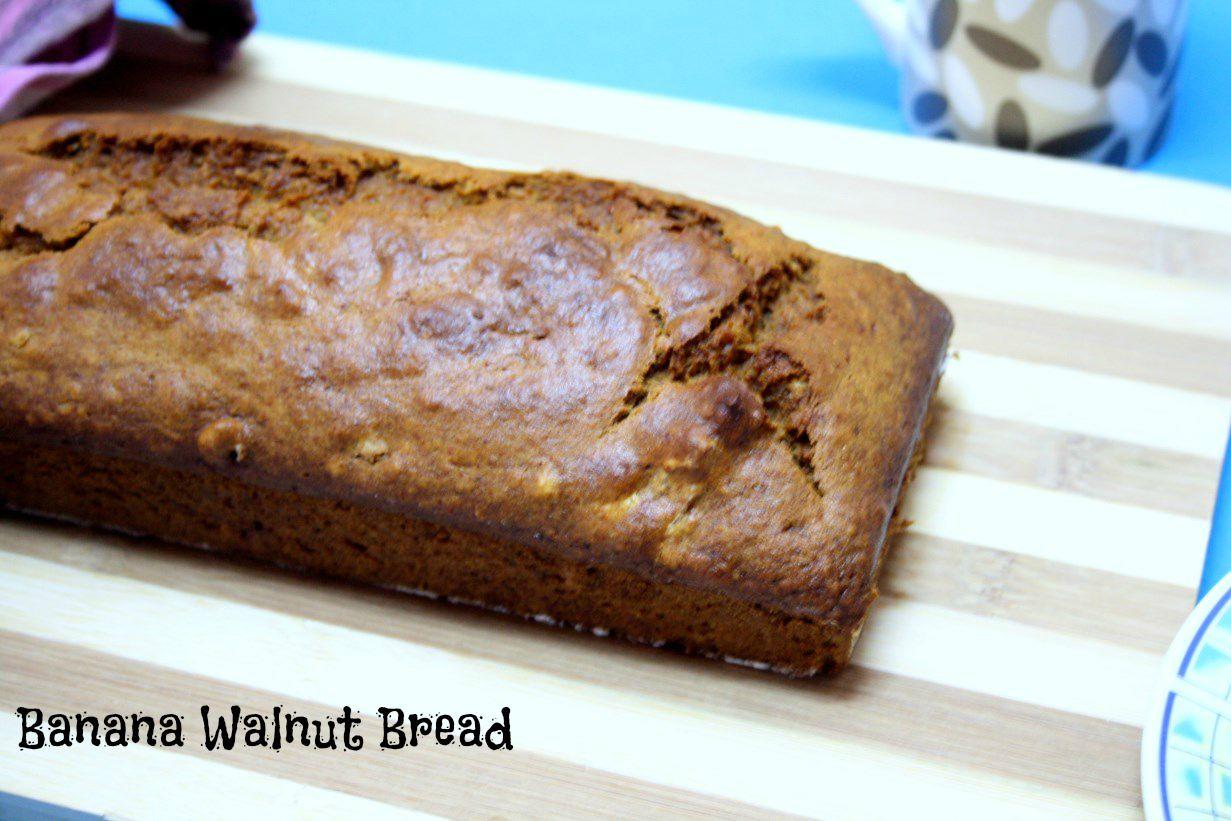 Eggless Banana Walnut Bread | Cooking 4 all Seasons