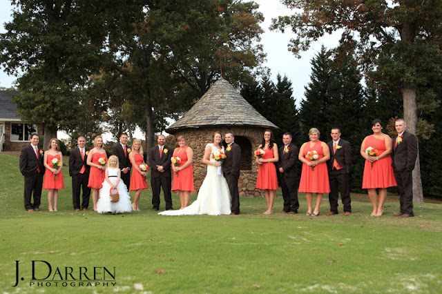 photos of the bridal party at a Bermuda Run Counrty Club Wedding in Bermuda Run North Carolina