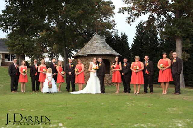 photos of the bridal party at a Bermuda Run Counrty Club Wedding in Bermuda Run North Carolina