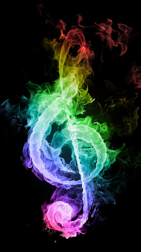 Colorful Musical Note of Smoke   Galaxy Note HD Wallpaper