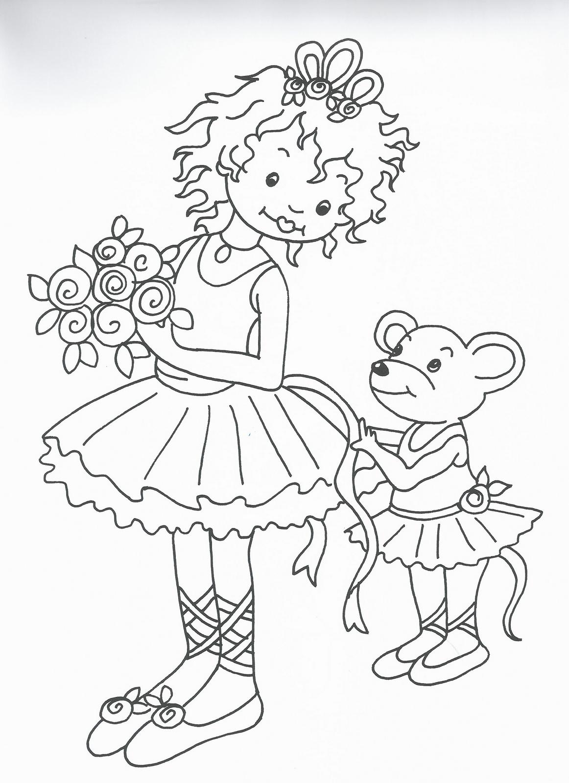 Disegni da colorare principesse e ballerine for Disegni da colorare di case