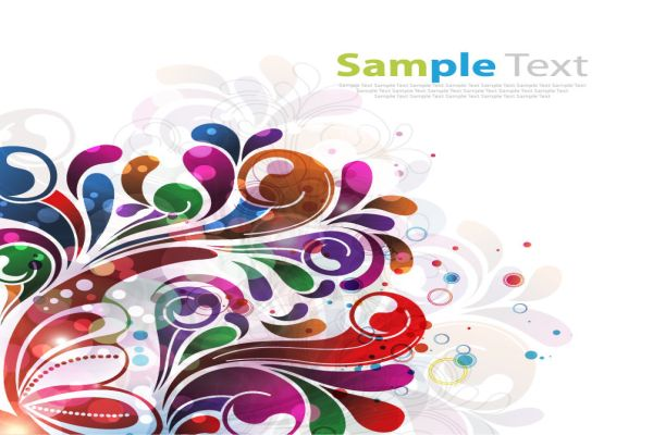 Abstract Grunge Floral Vector Backgrounds Download
