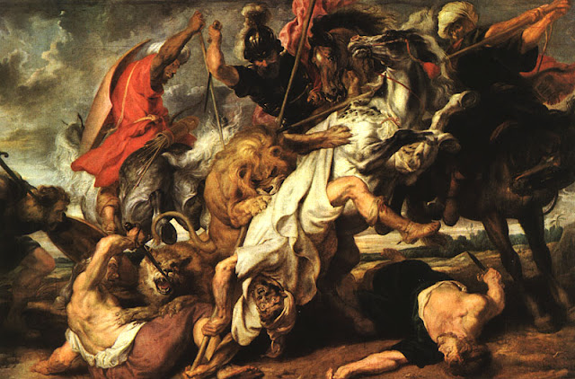 Rubens Lion Hunt 1616, Peter Paul Rubens, Dynamic Baroque